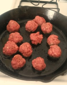 Sear those meatballs